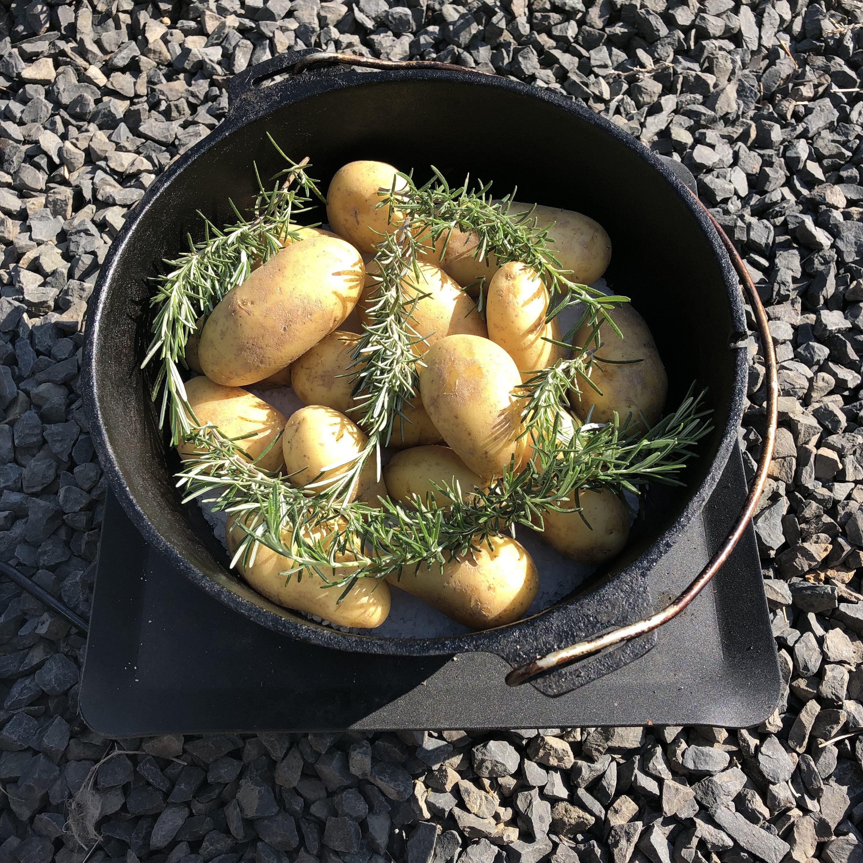 Rosmarin-Kartoffeln im Salzbett