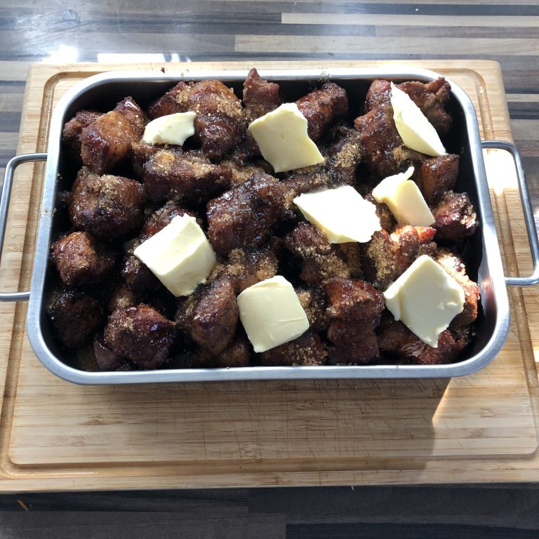 Pork Belly Burnt Ends mit Butter