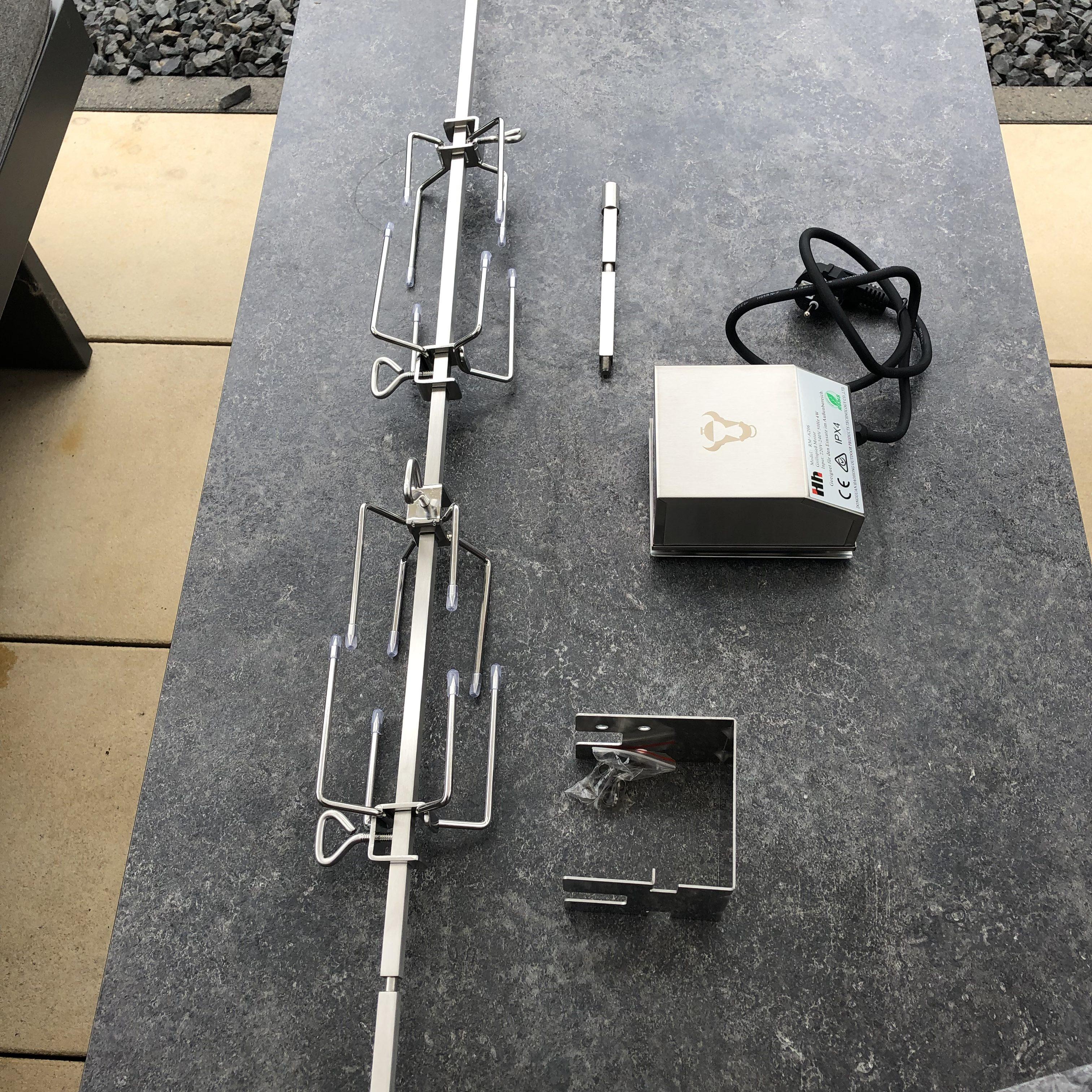 Alternativer Drehspieß für den Weber Genesis II E-410