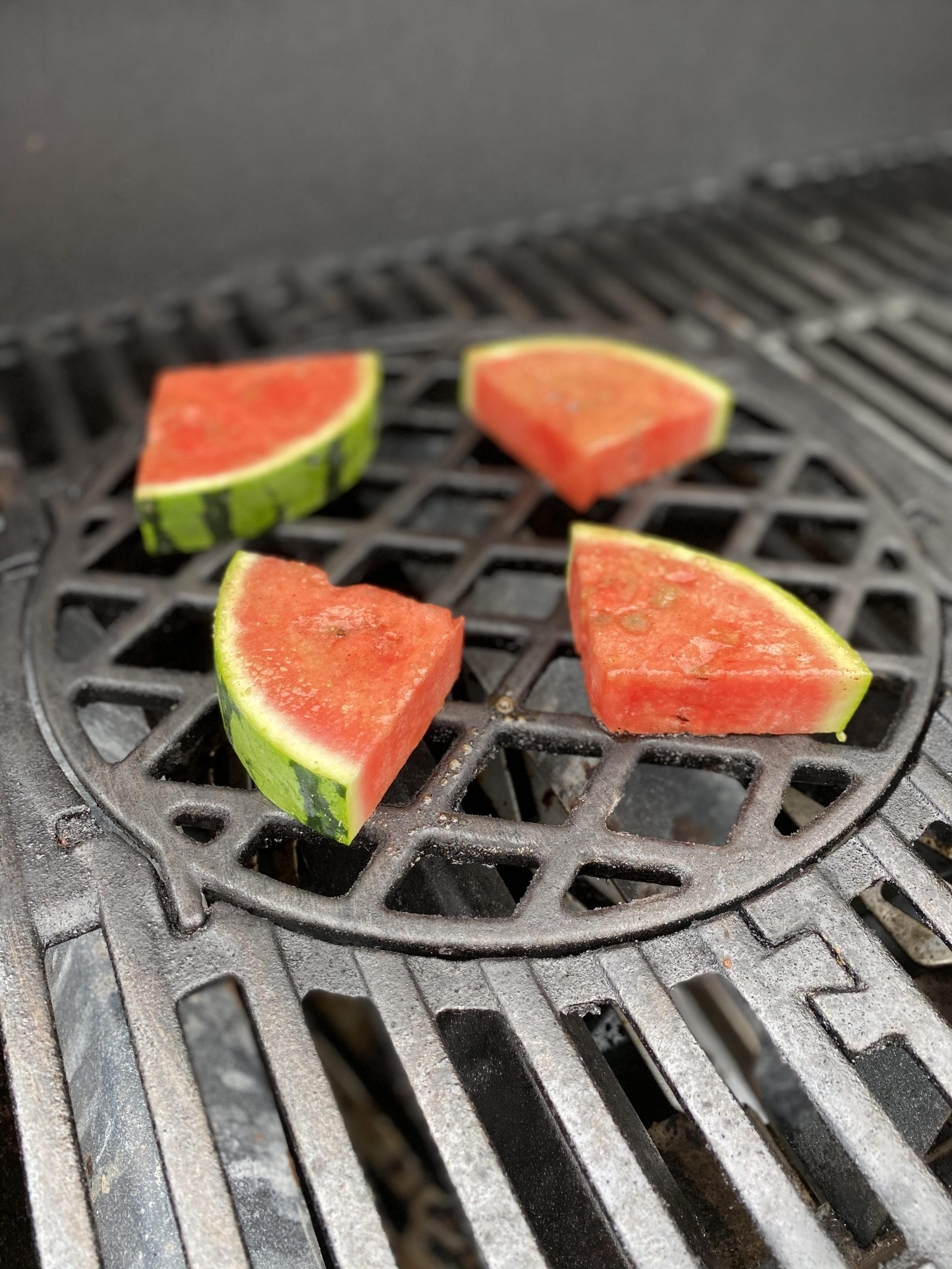 Melone mit Frucht Rub auf Grill
