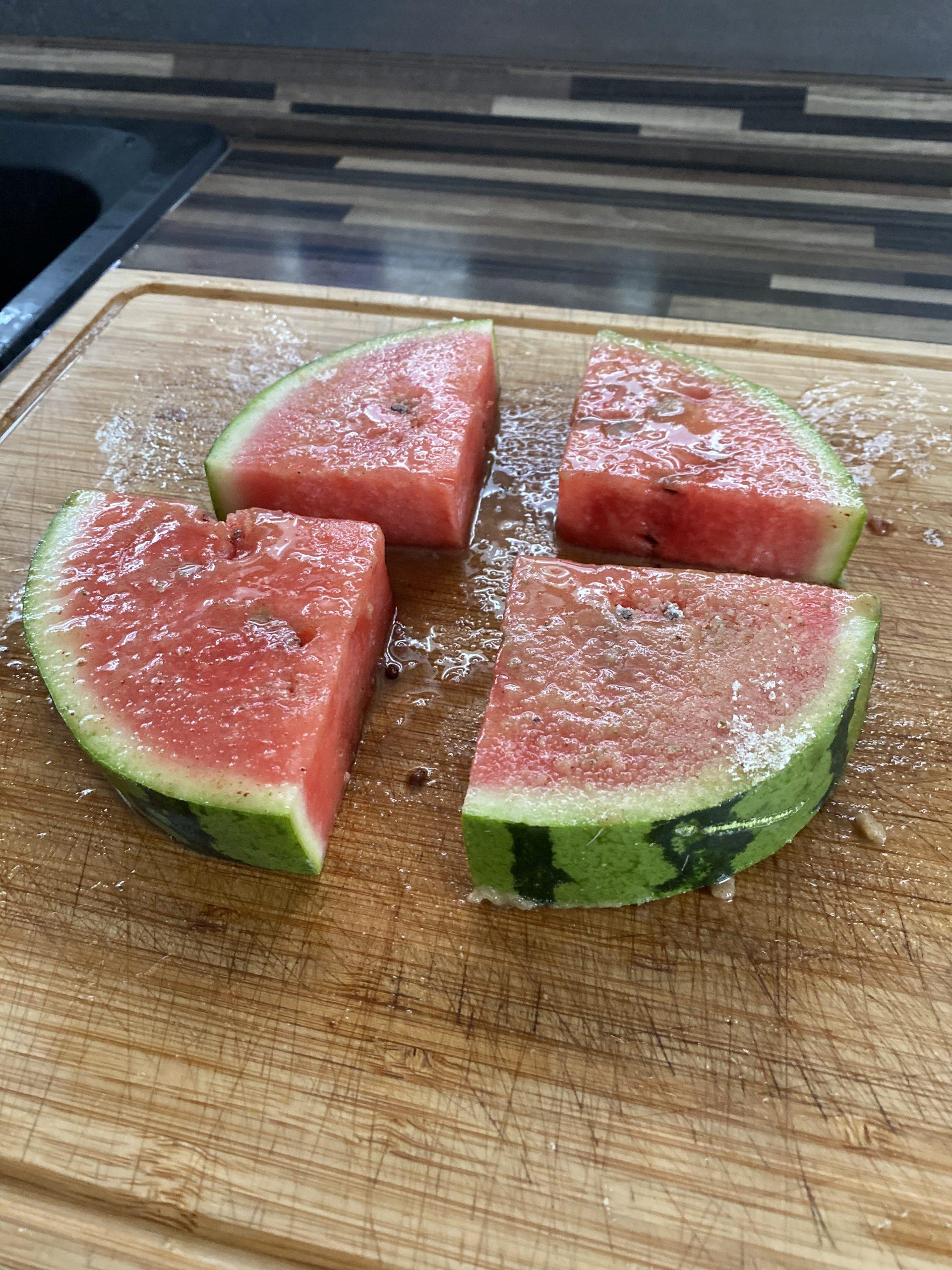 Frucht Rub auf Melone